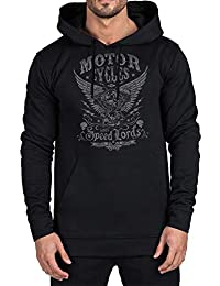 394cc2d14de4 Rebel on Wheels Speed-Lords Schwarz Herren Hoodie Swaetshirt Kapuzen- Pullover Motorrad Biker Eagle
