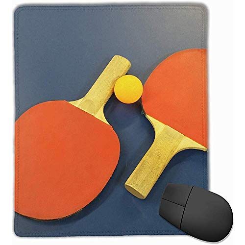 Mauspads Tischtennis Mauspad Genähter Rand rutschfeste Unterlage Mousepad Laptop-Computer PC