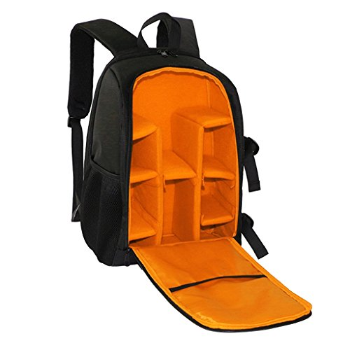 All in 1 Travel Camera Backpack Bag Case w/ Padded Crossbody Strap for DSLR & mirrorless Camera Universal Orange  available at amazon for Rs.2100