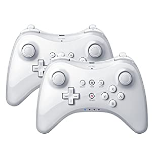 wii u: QUMOX 2 x Controlador Mando de Juego inalámbrico Bluetooth U Pro Controller Game...