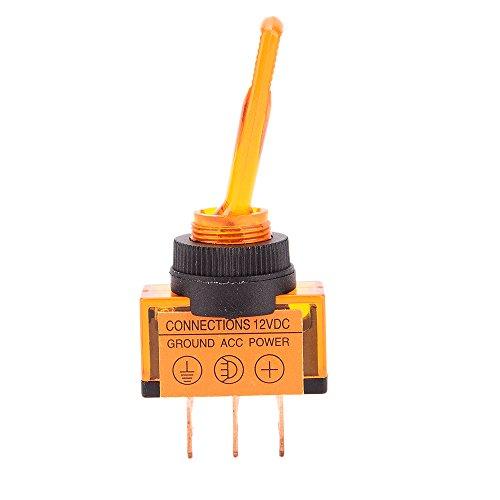 Interrupteur /À Bascule Keenso Commutateur de Commande Lumi/ère 12V 20A LED ON//OFF SPST Interrupteur /À D/ôme Rouge