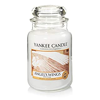 Yankee Candle Large Jar Scented Candle, Angel's Wings, Up to 150 Hours Burn Time