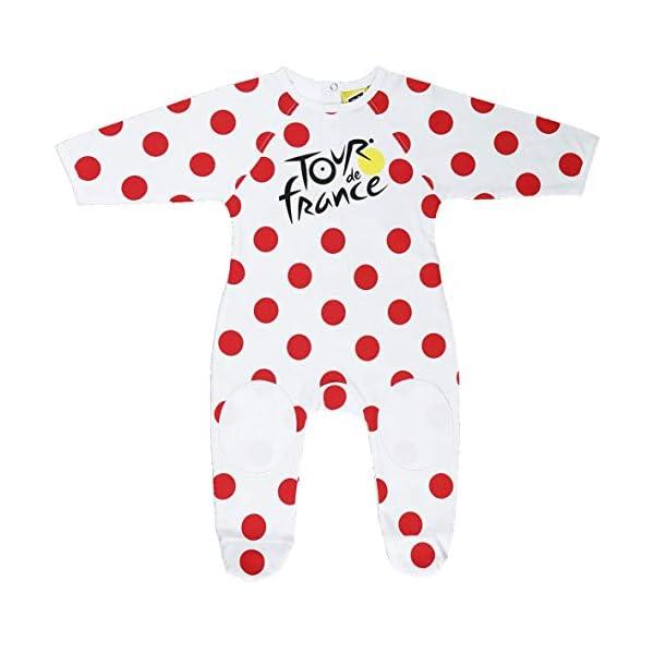 Le Tour de France - Pijama oficial para bebé, diseño del maillot del líder de la clasificación de la montaña del Tour de… 1
