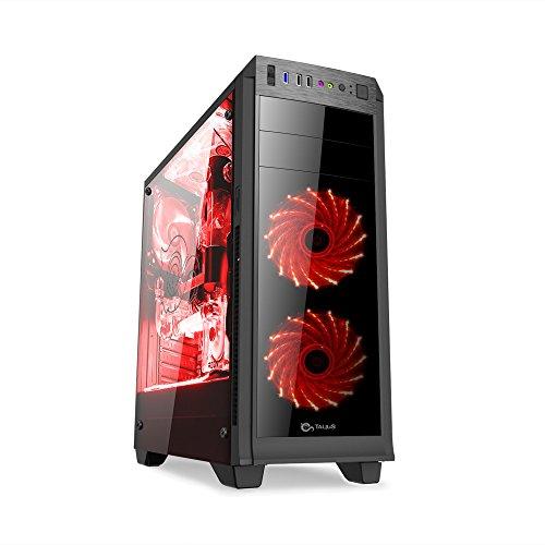TALIUS vorttex–Gaming ATX Gehäuse–USB 3.0–USB 2.0–ohne Netzteil–Schwarz
