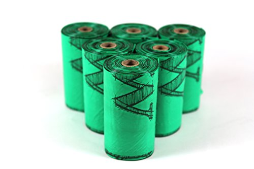 ecopaw Dog Poo Bags   Biodegradable   300 Large Poop Bags   Scented   20 Rolls of Strong Heavy Duty Bags   FREE Straw… 6