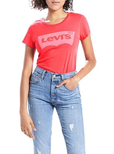 Levi's Damen T-Shirt The Perfect Tee, mehrfarbig/Better Batwing Pfd Poinsettia 0311, X-Small