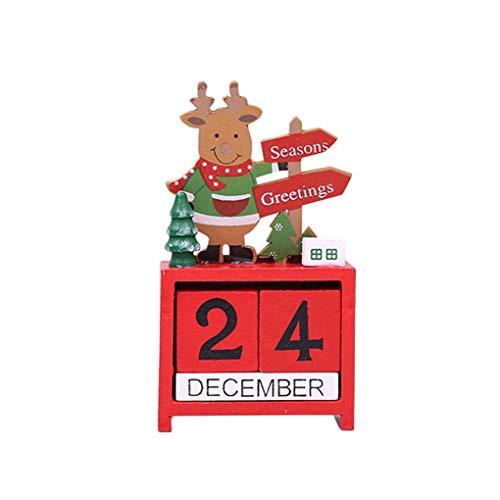 ender Kleine Mini-Weihnachtsweihnachtsmann Rentier Weihnachts Craft Brett Dekoration Home Office Ornament Geschenk ()
