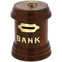 Preisvergleich für Spardose in Form Eines Briefkastens, aus Holz, Handgefertigte Geschenke aus Indien