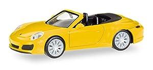 Herpa 028899Vehículo Porsche 911Carrera 4S Cabrio, racinggelb
