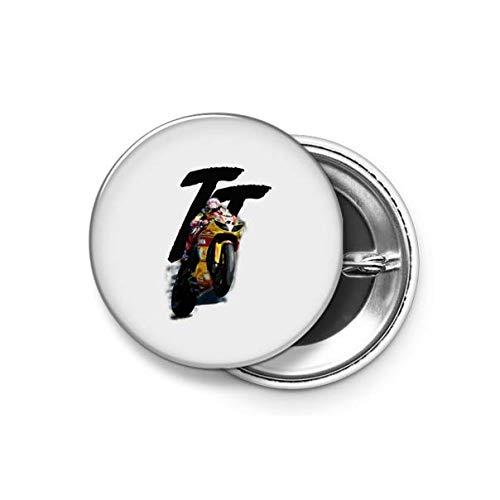 Shopsmeade® Tt Racer Round Pin Button Badge