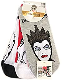 Primark - Calcetines para Mujer, diseño del Mal de Disney, tamaño de la Reina