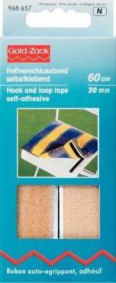 Prym 20 mm 0.6 m Autocollant Bande Velcro, Beige