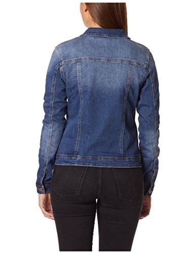 Berydale Damen Jeansjacke mit modischer Waschung, Dunkelblau, Gr. 34 - 2