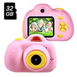 TekHome 2019 New Kids Digital Camera for Girls, Pink Childrens Camera with 8MP