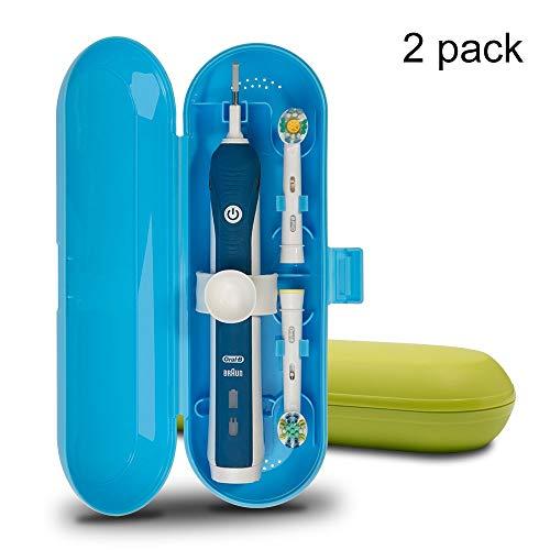 Kunststoff Travel Case für elektrische Zahnbürste Oral-B Pro Serie, 2Packungen (blau und grün)