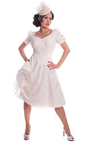 SugarShock Damen rockabilly SWING Brautkleid 148261607 Creme L