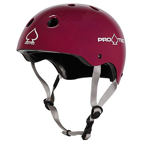 Pro tec Classic Certified für Helm, Unisex Erwachsene XS Glänzend Aubergine