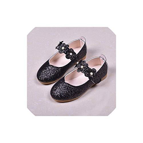 Lovtiful sandals Mädchen-Kind-Schuh-Mädchen-Kursteilnehmer beiläufige Einzeltanz Prinzessin Lederschuhe, A, 12,5 (Kunststoff-wrap Breite Extra)