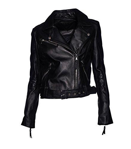 BE EDGY Damen Lederjacke Gipsy Bikerjacke Jacke Leder - Leder
