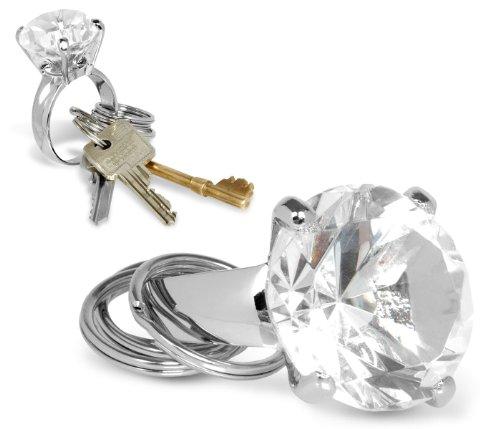 Diamant Schlüsselring - Diamond Key Ring (unecht) (Schlüsselanhänger Diamant-ring)