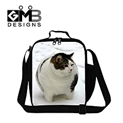 GIVE ME BAG Generic Cute Cat Lunch Bags for Kids School Food Bag Personalized Work Lunch Bag