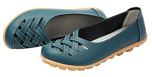 Fangsto  Flats, Basses femme bleu sarcelle foncé