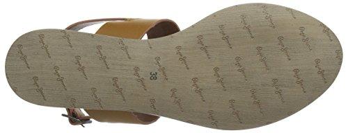 Pepe Jeans - Gayton Tassels, Sandali Donna Marrone (Marron (877 Nut Brown))