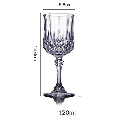 CGDZ Kreative Kristall Whisky Glas Bierkrug für Hochzeit/Party und Zuhause Rotwein Glas Brandy Becher Gläser GL020 120ml Weinglas -