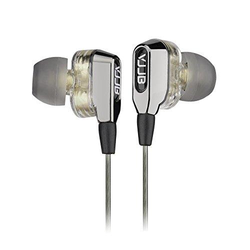 Pomelo Best In-Ear Kopfhörer mit Mikrofon Zwei Treibereinheit mit Hoch Leistung und Lärmminderung Hifi Ohrhörer 3.5 Klinke