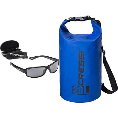 Cressi Ninja Schwimmend Sonnenbrille Erwachsene Polarisierte + Wasserdichte Taschen mit langem verstellbaren Schulterriemen, für Tauchen, Bootfahren, Kajak, Angeln, Rafting, Schwimmen, Snowboarden