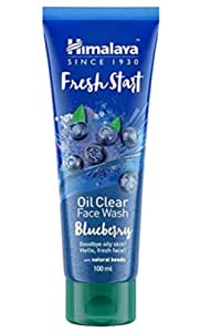 Himalaya Fresh Start Oil Clear Face Wash, Blueberry, 100ml (Pack of 2) 200ml