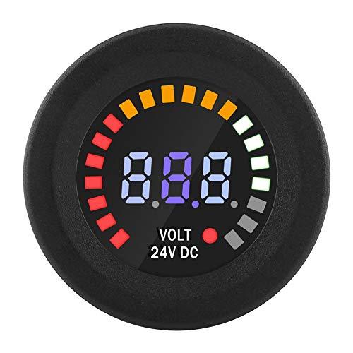 DC 24V Universal Digital LED Panel Voltmeter Voltmeter Spannungsanzeige Volt Meter für Auto Motorrad ATV mit 15 cm Linie