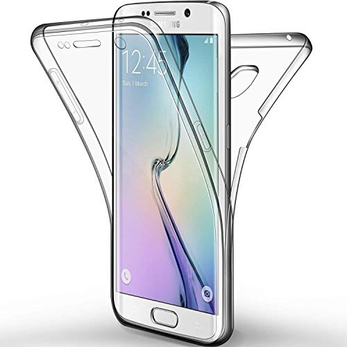 Galaxy S6 Edge Plus Hülle, Galaxy S6 Edge Plus Silikon Hülle, EINFFHO Samsung Galaxy S6 Edge Plus Schutzhülle 360 Full-Body Front + Back Double Beidseitiger Slim Silikon Schutzhülle Case Hülle Etui für Samsung Galaxy S6 Edge Plus Kristall Klar Handyhülle Stoßdämpfend Silikon Schutz Handy Hülle Case Tasche Schale Skin Durchsichtig Klar Schutzhülle Schutz Bumper dünn Silikon Hülle für Samsung Galaxy S6 Edge Plus (Durchsichtig)