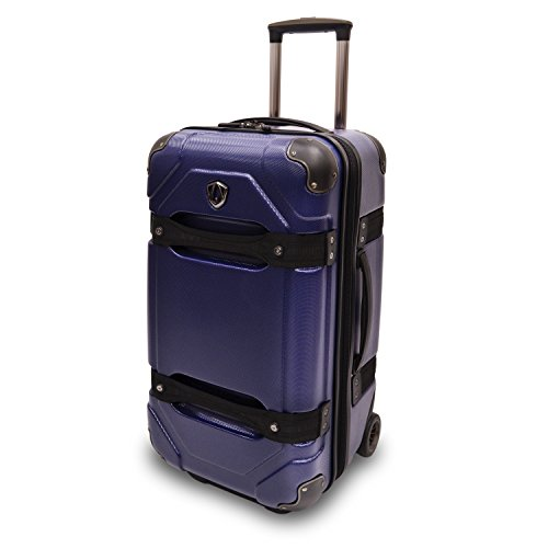 travelers-choice-24-100-polycarbonate-hardside-rolling-trunk-luggage-blue