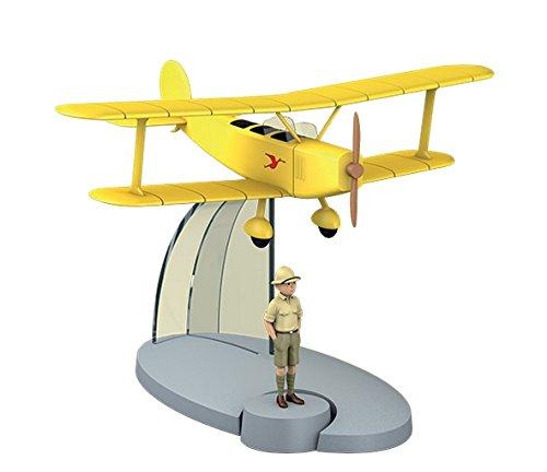 Avion Tintin - BIPLAN JAUNE 'TINTIN AU CONGO' & TINTIN - MODÈLE RÉDUIT 8 CM + FIGURINE 4.5 CM