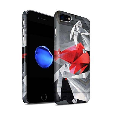 STUFF4 Matte Snap-On Hülle / Case für Apple iPhone 8 / Nachricht Muster / Städtisch Straße Kunst Kollektion Alte Fabrik