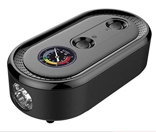 KSQP Reifenluftkompressor Digitalreifen Inflator Mit Reifen-Notfallreparatur-Toolkit 12-V-Not-LED-Taschenlampe Voreingestellte Funktion Digital Auto Aus,Blackpointer