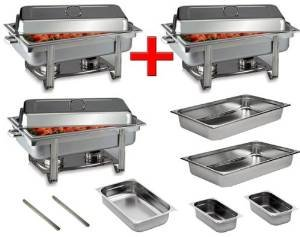 3 Chafing Dishes im Set