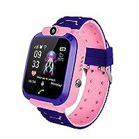 MOGOI Kids Smart Watch Phone For Children Student Boys Girls Smartwatch Waterproof 1.44 Inch Touch Glass Sport Wrist With Position Tracker Dialer Alarm Games