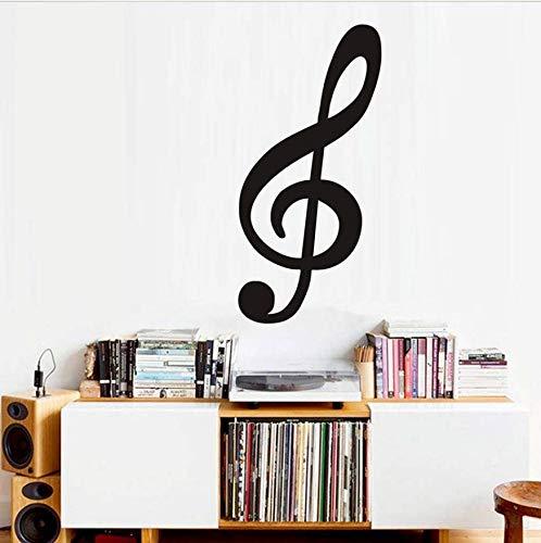 Große Größe Violinschlüssel Musiknote Wandtattoo Vinyl Removable Wall Decor Kindergarten Aufkleber Für Wohnzimmer Großhandel 28x59 cm