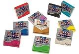Fimo - Pasta da modellare, morbida, 56g, colori assortiti, 10pezzi