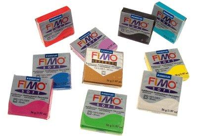 Fimo-pate A Modeler Fimo Soft Coloris Assortis - Sac De 10 Pains [Jouet]