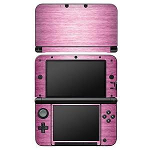 DeinDesign Nintendo 3 DS XL Case Skin Sticker aus Vinyl-Folie Aufkleber Metal Look – Pink Metall Rosa Pink