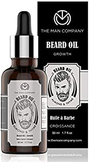 The Man Company Beard Growth Oil For Men - (Almond & Thyme) For Beard Growth (50Ml   Natural Ingredi