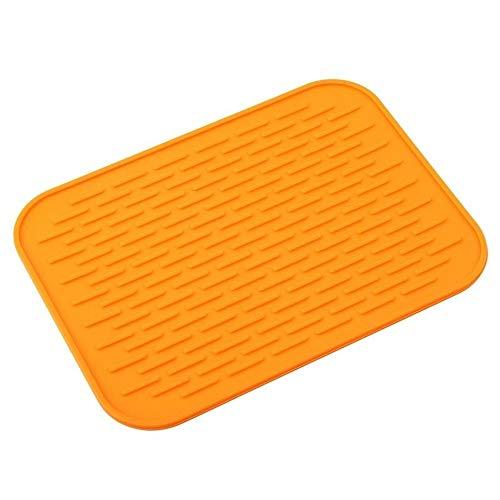 Benrise 2 Stück Küchenuntersetzer Topfpfannen Glätteisen Matte Hitze-rutschfest Silikon Isolierung Pad (Farbe zufällig) (Für Glätteisen Hitze-matte)