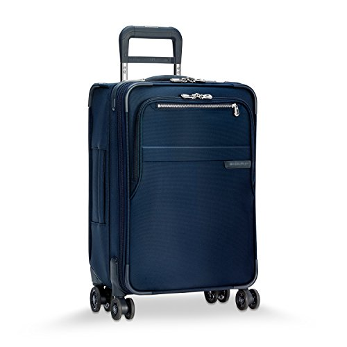 Briggs & Riley Baseline Limited Edition Domestic Carry-On Expandable Spinner, 56cm, 55.5 litres, Navy Bagaglio a mano, 56 cm, 55.6 liters, Blu (Navy)