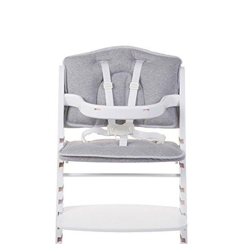 Childhome- LAMBDA Sitzkissen Für Baby Hochstuhl, 42 x 28 x 4 cm, Grau