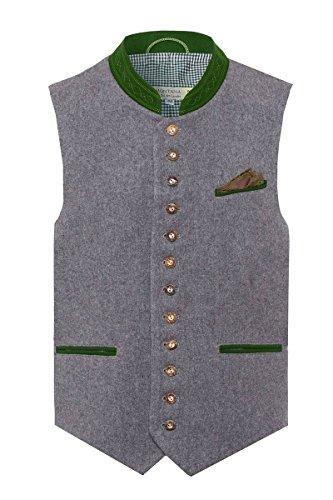 Tramontana Herren Trachtenweste grau-grün Alfons 114614