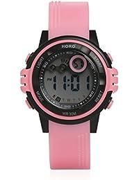 Horo (Imported) Pink Digital Kids Sports Water Resistant Wrist Watch 18 months Warranty 16X66.16X115MM