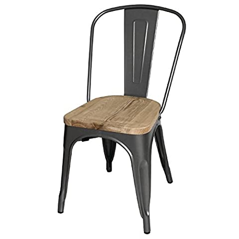 Boléro en acier gg708salle à manger chaise en bois avec